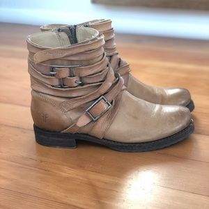 Frye Veronica distressed strappy ankle boot